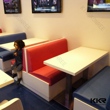 KKR Solid surface table and chair modern for restaurant