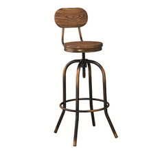 Screw adjustable antique metal industrial bar stools