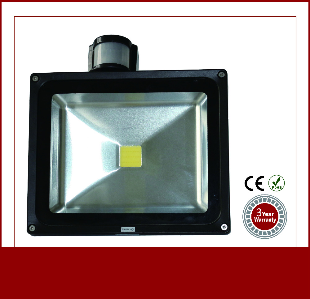 Energy Saving Waterproof sense 30 watt led flood light