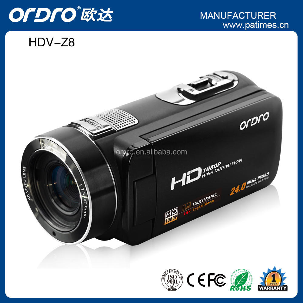 ORDRO Professional Original HDV-Z8 1080P Full HD Digital Video Camera Camcorder 3.0 Inch Touch Screen Max.24MP Wholesale