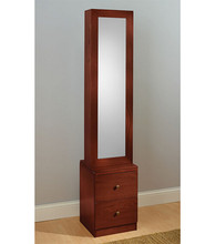 Cheap wooden glass jewelry display cabinet with LED light