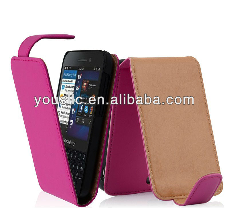 PU Leather Flip Clip On Vertical Pouch MOBILE PHONE CASE Cover For BlackBerry Q5