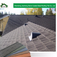 Light weight sand coated steel roof