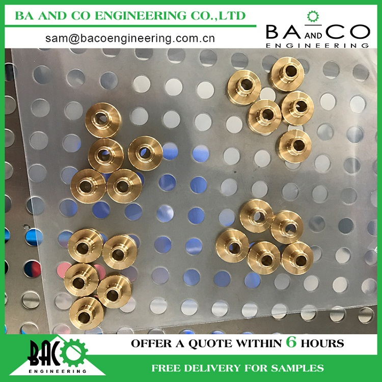 Custom fabrication services black mass production cnc machining brass parts