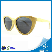 Ultra Light Fashion Lady Bamboo Made Sunglasses Top Manufacturer For Wooden Eyewear