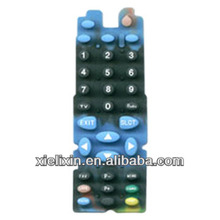 Remote control silicone rubber keypad with conductive pills