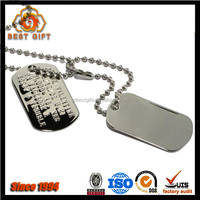 Custom Metal Stainless Military Dog Tags For Name Mark
