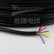 CE UL certificate computer cable ul2464 shielded electrical hook up wire braided 16awg 18awg 20awg 22awg 24awg 26awg 2C -10C w