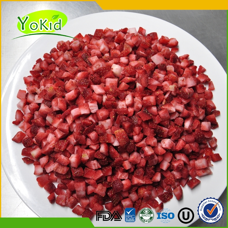 frozen strawberries Harvested IQF Strawberry new crop 25-35mm BRC bulk package