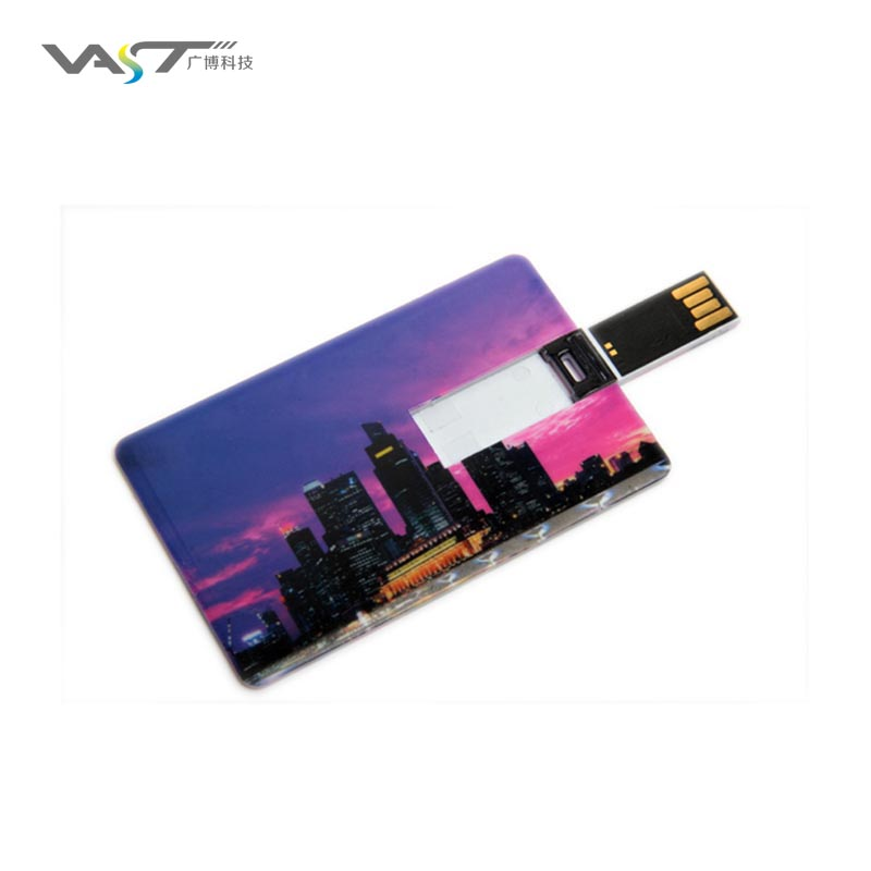 Sliding business card credit card USB flash memory card for daily use