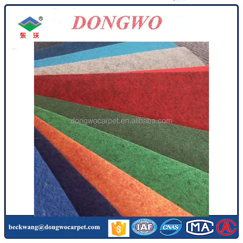 Needle Punched Plain Surface Exhibition Carpet office Carpet in Dongwo manufacturer