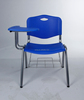 K/D stackable plastic conference meeting chairs with writing board 1007c