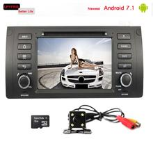 1 din touch screen android 7.1 car dvd player for BMW E39 X5 M5 bulit-in 3/4G wifi support dab+ steer wheel control 2G RAM 16GB