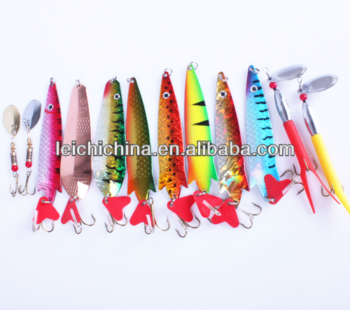 fishing spoon spinner lures kit