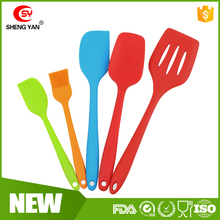 Created Non-stick cooking Silicone spatula set, loved by ladies silicone baking spatula kitchenware