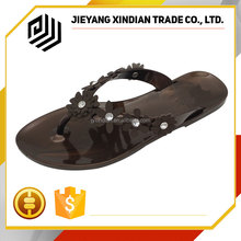 Casual lady slipper high quality women plastic pvc jelly sandal shoes