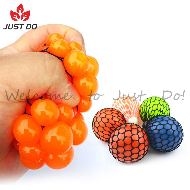 Grape Stress Relief Squeezing Hand Wrist Toy Mesh Squishy Ball