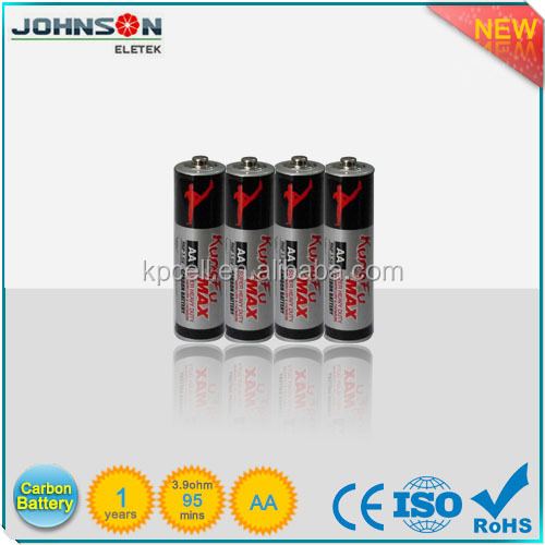 1.5v aa size r6 carbon zinc battery with low MOQ and competitive price from Yuyao
