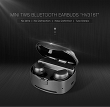Two twins super mini & micro wireless v4.1 bluetooth stereo earphone for iphone With Charger Cradle