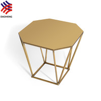 2016 New Design Modern Polygon Golden Coffee Table