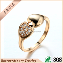 925 sterling silver rose gold mirco pave setting fashion lady ring