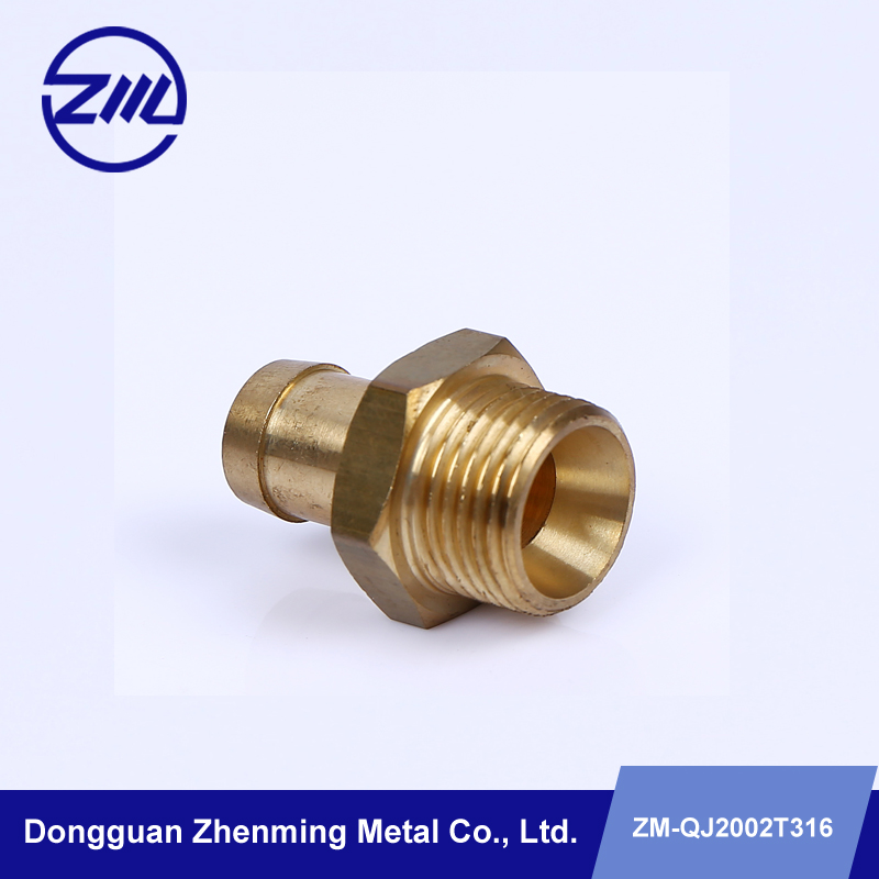 water pipe connecting brass spare parts cnc machinery