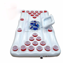 EASTONY Beer Pong Table with Built In Cooler, Includes 5 Ping Pong Balls - Floating Pool Party Game Raft and Lounge