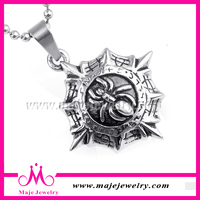 punk gothic style silver cool mens burning sun moon pendant