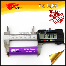 Newest IMREN 18650 3000 40a battery /IMR 18650 3000MAH 40A 3.7V high quality 18650 authentic sanyo ncr20700b