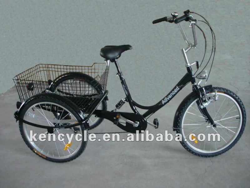 24 INCH STEEL FRAME ALLOY RIM 6SPEED DERAILLEUR TRICYCLE BICYCLE/TRICYCLE BIKE THREE WHEEL BICYCLE SY-TR2402