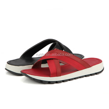 Outsole rubber pange and eva anti-slip fashion men slipper shoes factory directed made slipper can change material beach slipper