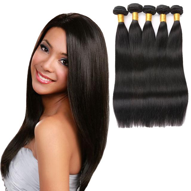 Manufacture wholesale cheap price human weave hair long silky straight virgin hair weave