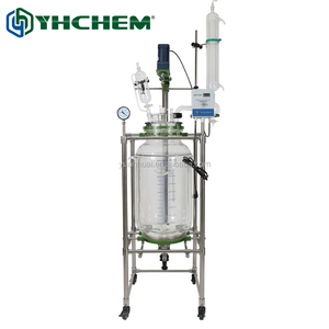 JGR100L 100l jacketed glass reactor for lab use