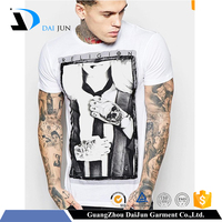 Daijun oem men high quality 100 cotton inexpensive funny white t shirt