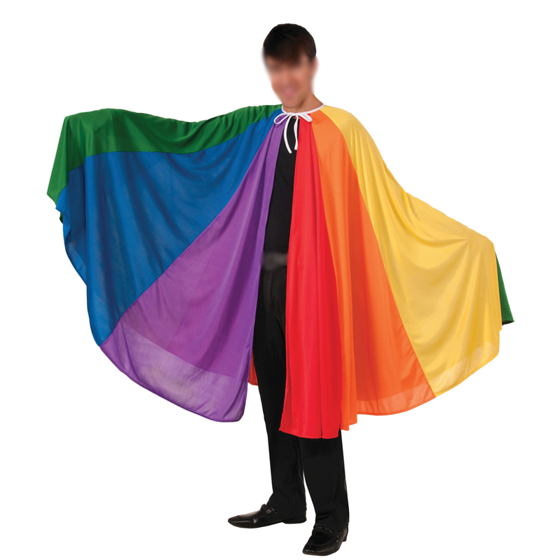 Adult Pride Rainbow Cape Fancy Dress Costume Sleeveless Cape Huge Wearable Flag Country Sports Supporter Cape