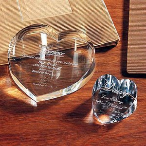 Wedding Souvenir Heart Crystal Gift