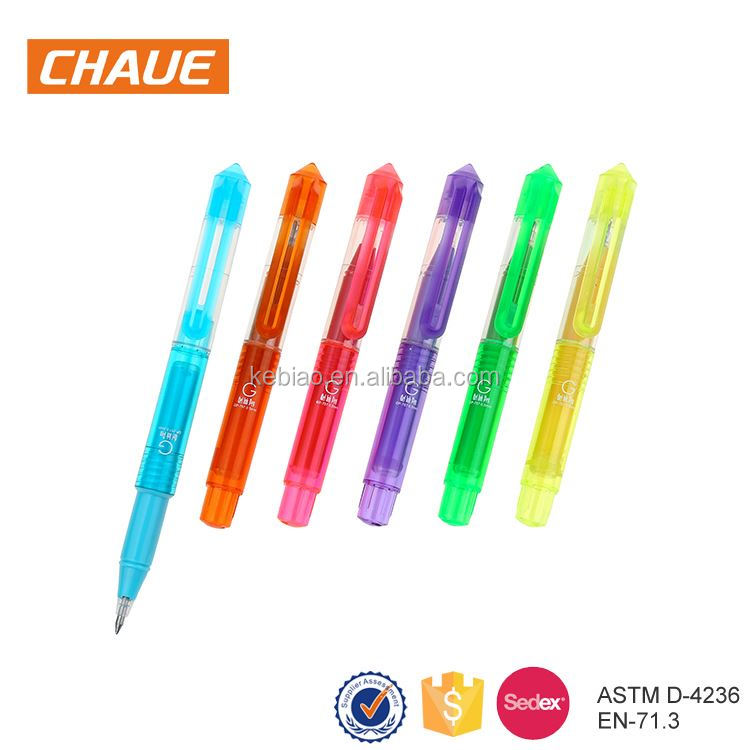 2017 new products promotional multicolored gel ink pens for kids