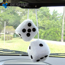 Promotional Gifts Hanging Perfume Plush dice Pendant Scented Fuzzy Dice For Car Home Office Decoration
