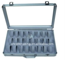 aluminum watch and jewelry travel cases storage
