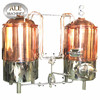 China 600 liter red copper electric brewhouse mash tun boil kettle