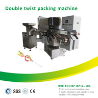 candy twist wrapping machine lollipop double twist packaging machine