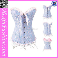 Top Classical Ladies' sexy white lace corset bustier top