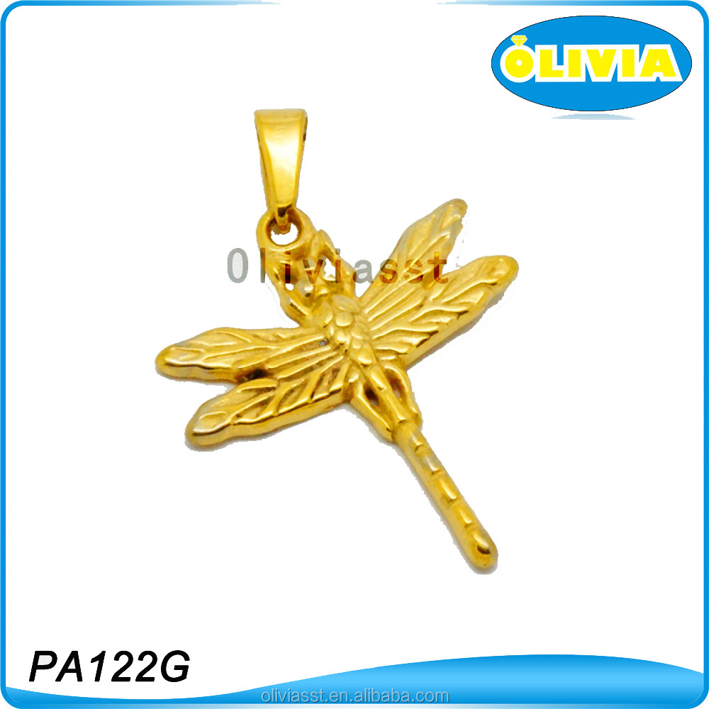 Olivia Hot Selling Pendant Jewelry Gold Dragonfly Decorations For Weddings
