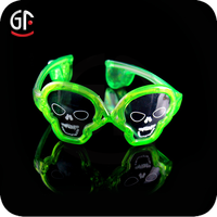 Halloween Party Favor Factory Wholesale Skull Shaped Led Glow In Dark Glasses