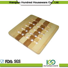Professional Unbreakable bamboo tea cup coaster
