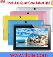 Q88 A33 7 inch Quad Core Tablet with Android4.4 512MB RAM 8GB HDD WIFI Dual Cam