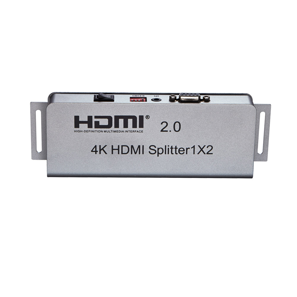 2 output hdmi 2.0 splitter Supports resolutions up to Ultra HD 4K, 1080p Full HD, with ir extension, hdcp 2.2, 1x2 hdmi splitter