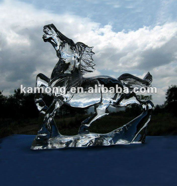 Hand carved crystal horse