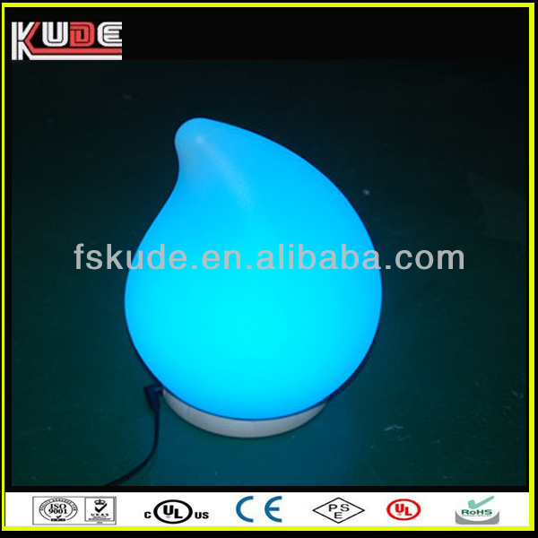 Little water drop design color changing led decoration table lamp