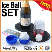 RENJIA ice-block mould smile face ice cube tray silicone ice cold tray